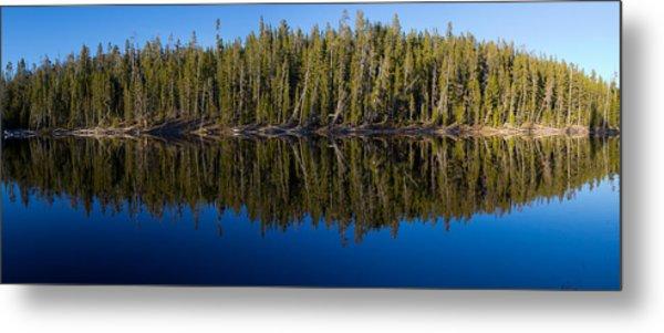 Reflection On Schaup Lake Metal Print