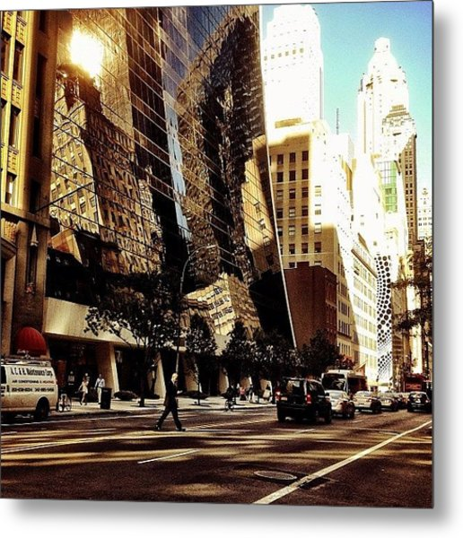 Reflections - New York City Metal Print