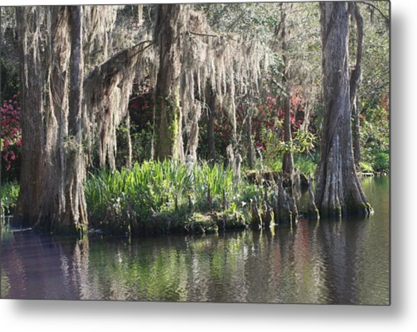 Reflection's At Magnolia Gardens Metal Print