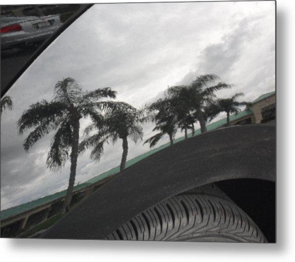 Reflections In The Bumber Metal Print