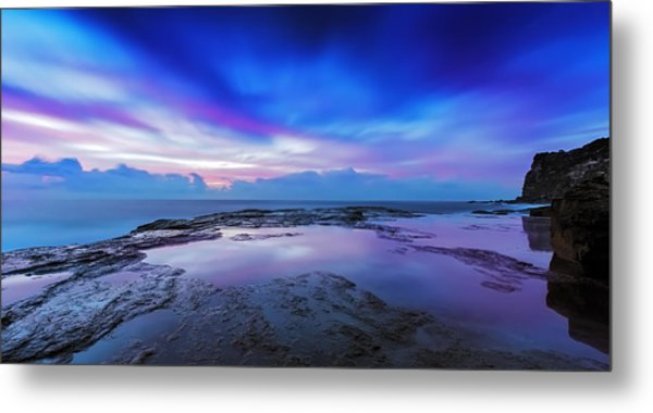 Reflections Of Pink And Blue Metal Print