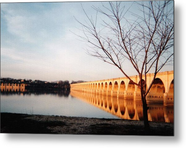 Reflections On The Susquehanna Metal Print by Ed Golden