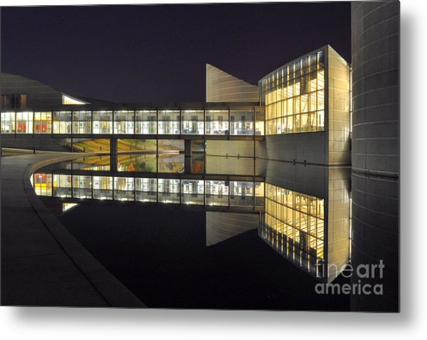 Reflective Exploration Metal Print