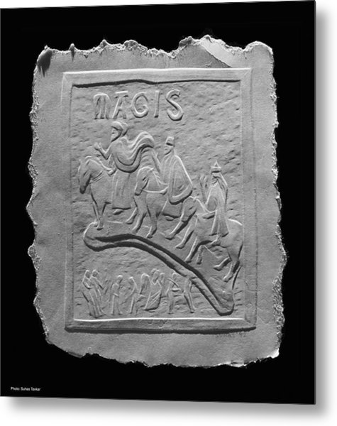 Relief On Paper Metal Print