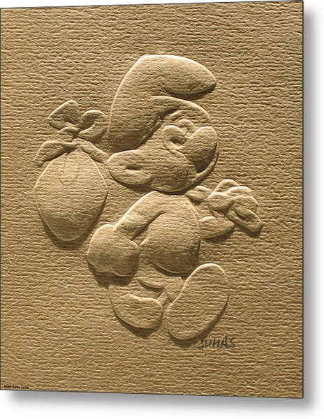 Relief Smurf On Paper  Metal Print