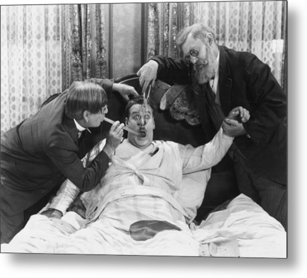 Reluctant Patient Metal Print by Archive Photos