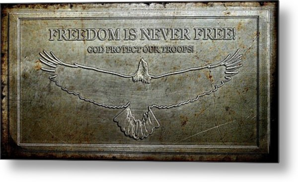 Remember Our Heros Metal Print by Carrie OBrien Sibley