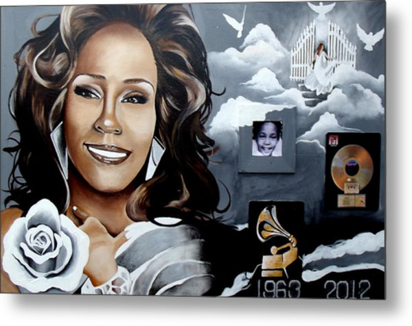 Remembering Whitney Metal Print by Alonzo Butler