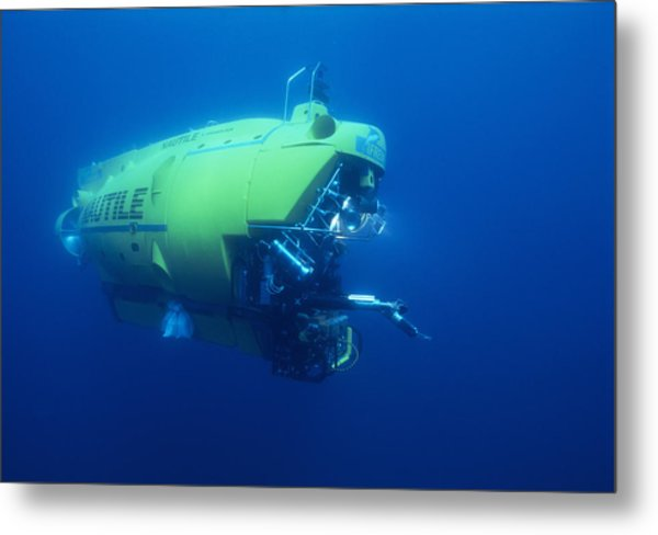 Research Submersible Metal Print by Alexis Rosenfeld