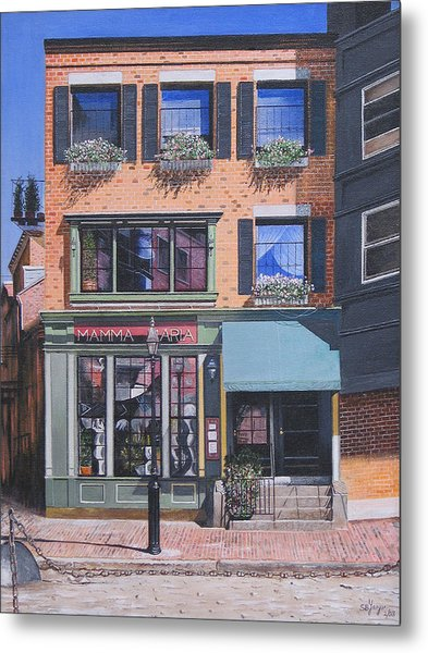 Restaurant Boston North End Metal Print