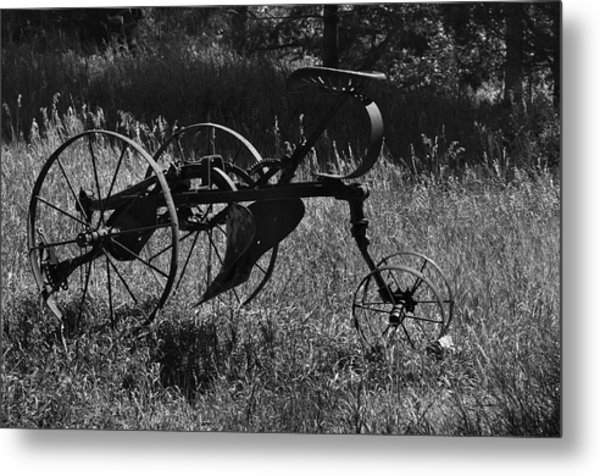 Metal Print featuring the photograph Retired Farmer by Ron Cline