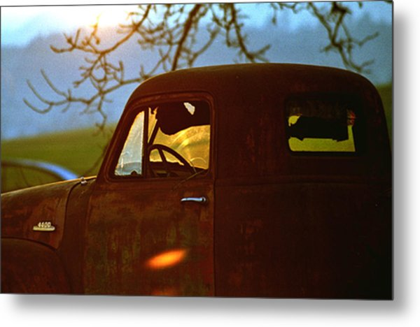 Retirement For An Old Truck Metal Print