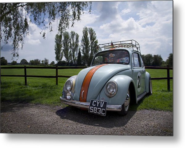 Retro Beetle 1 Metal Print by Dan Livingstone