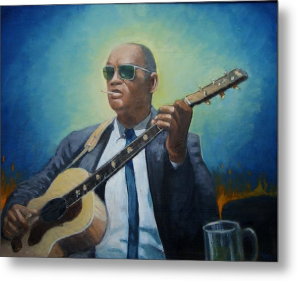 Rev. Gary Davis Metal Print by Mark Haley