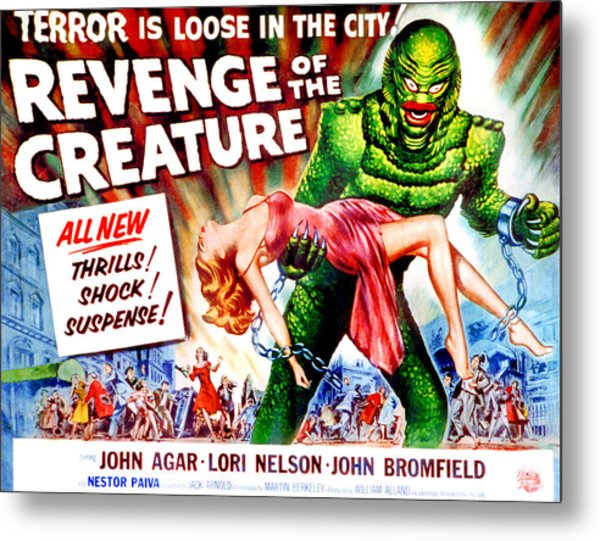 Revenge Of The Creature, Lori Nelson Metal Print by Everett