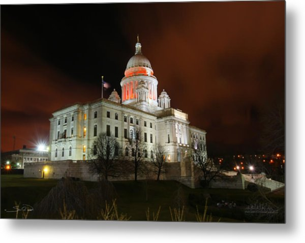 Rhode Island Capital Building Metal Print