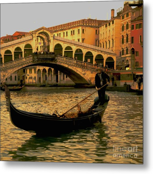 Rialto Bridge Venice Metal Print