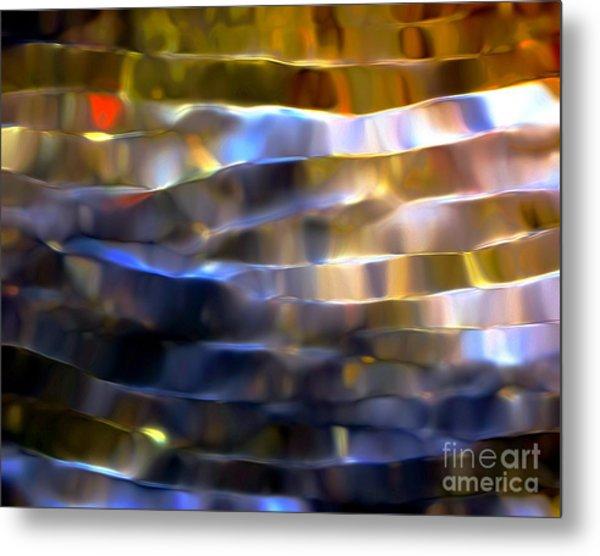 Ribbons Of Light Metal Print