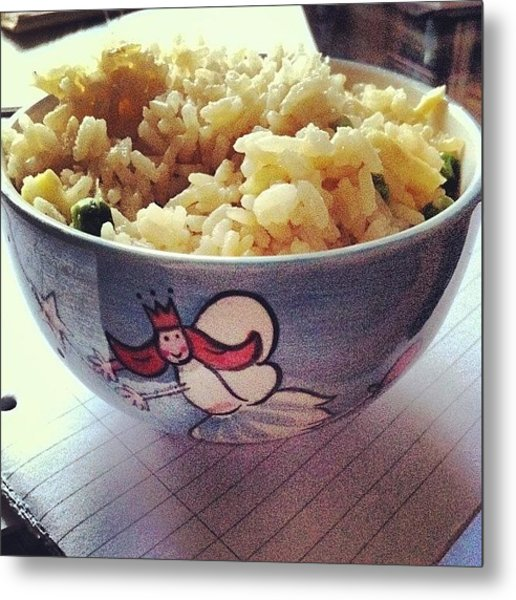 #rice #for #lunch #in #my #amazing Metal Print