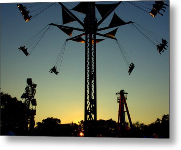 Ride Into The Setting Sun Metal Print