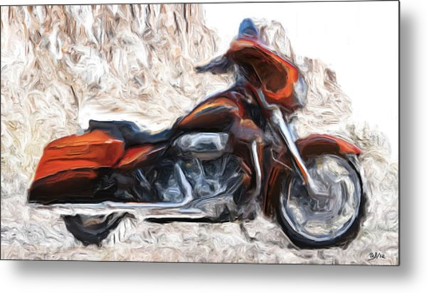 Riding In The Snow Metal Print by Wayne Bonney