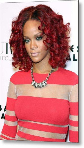 Rihanna In Attendance For Rihanna New Metal Print by Everett