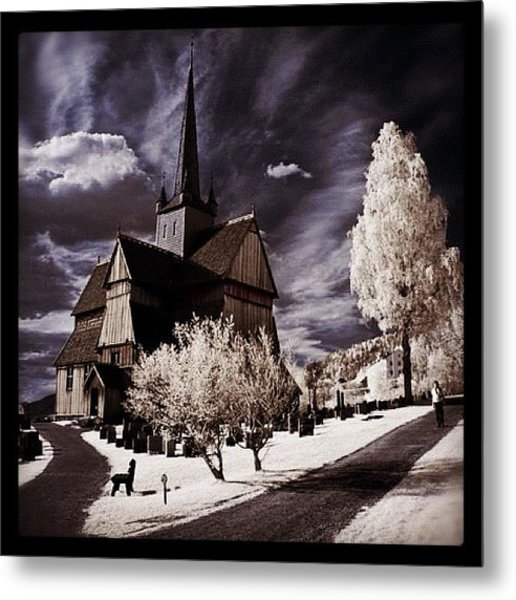 Ringebu, Norway. Stave Church. Taken Metal Print