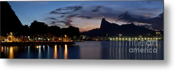 Rio Skyline From Urca Metal Print