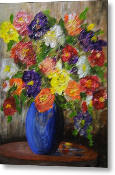 Riot Of Flowers Metal Print