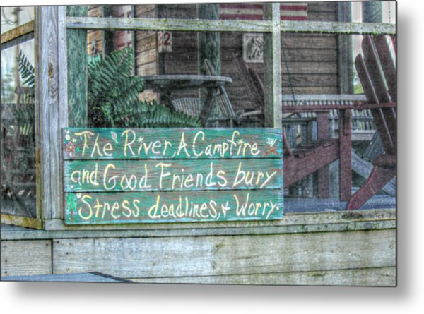 River Mantra Metal Print