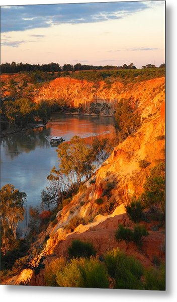 River Murray At Sunset Metal Print by Patricia Tapping