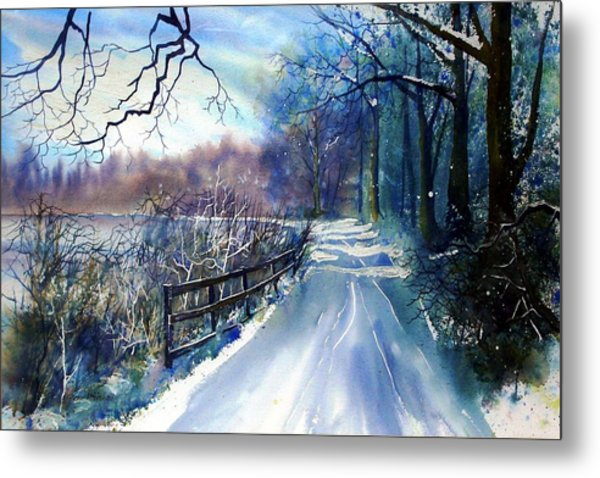 River Ouse In Winter Metal Print