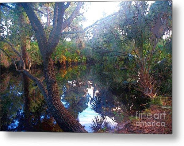 Riverbank Reflections1 Metal Print