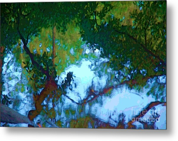 Riverbank Reflections2 Metal Print