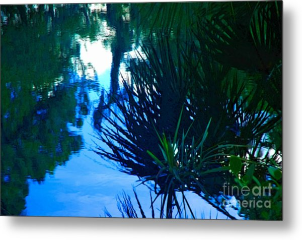 Riverbank Reflections3 Metal Print