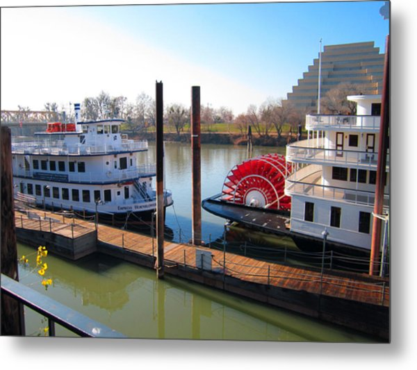 Riverboats Metal Print