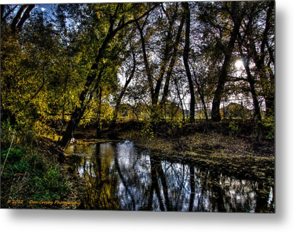 Rivers Edge Metal Print by Dan Crosby