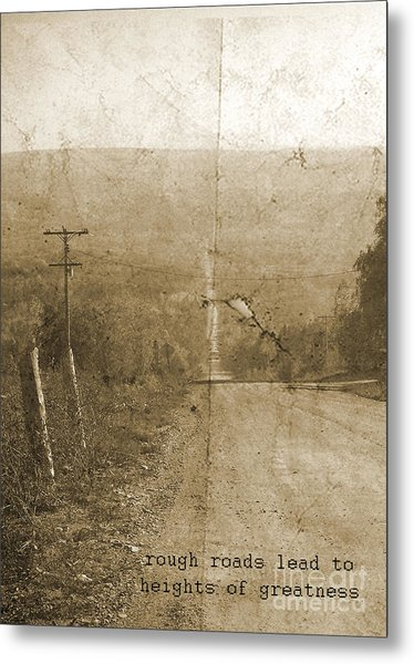 Road Not Traveled  Metal Print