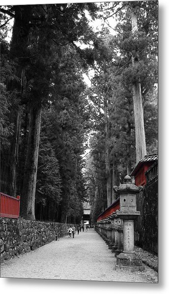 Road To The Temple Metal Print by Naxart Studio