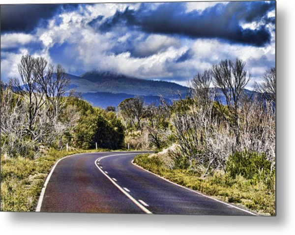 Road With A View Metal Print