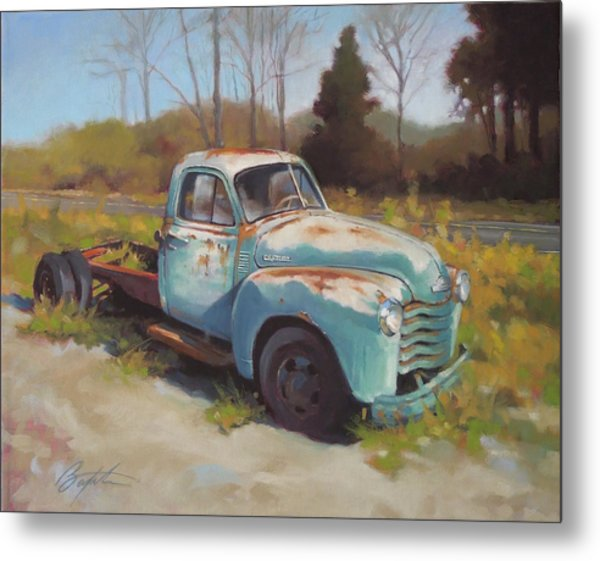 Roadside Relic Metal Print by Todd Baxter
