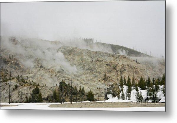 Roaring Mountain In Yellowstone Metal Print by Charline Xia