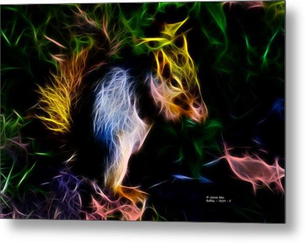 Robbie The Squirrel - 7839 - Fractal Metal Print
