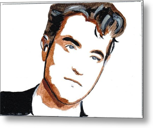 Robert Pattinson 22 Metal Print by Audrey Pollitt