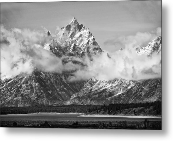 Rock Chuck Peak   Jackson Lake Wyoming Metal Print