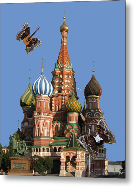 Rock On Moscow Metal Print