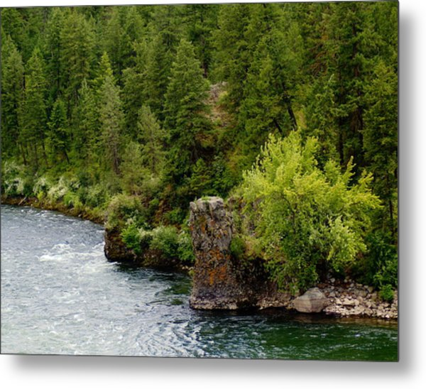Rockin The Spokane River Metal Print