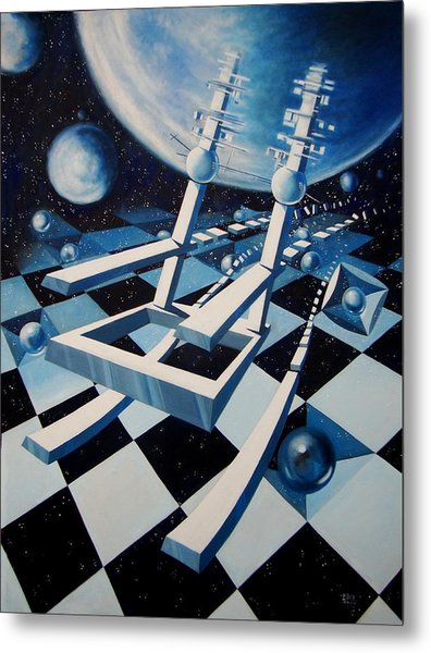 Rocking Into Space Metal Print