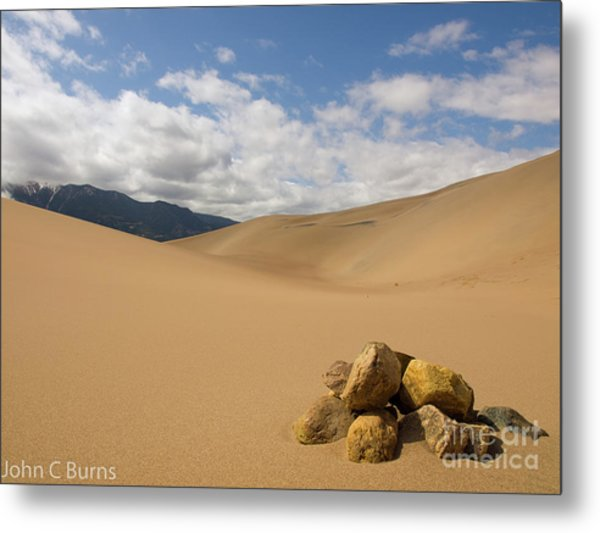 Rocks In The Mountains Metal Print