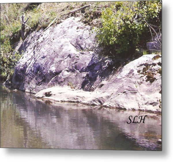 Rocks On The Bank Metal Print